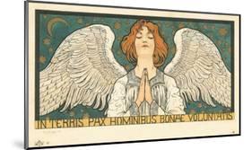 In Terris Pax Hominibus Bonae Voluntatis Postcard-null-Mounted Giclee Print