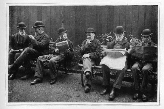 In the airing yard, St Marylebone Workhouse, Luxborough Street, London, c1901-Unknown-Photographic Print