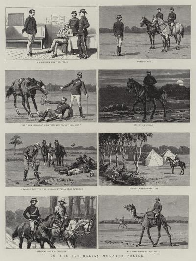 In the Australian Mounted Police--Giclee Print