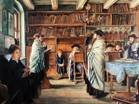 In the Beth Hamidrash-Isidor Kaufmann-Art Print