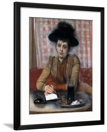 In the Cafe, C.1900-1901-Pierre Carrier-belleuse-Framed Giclee Print