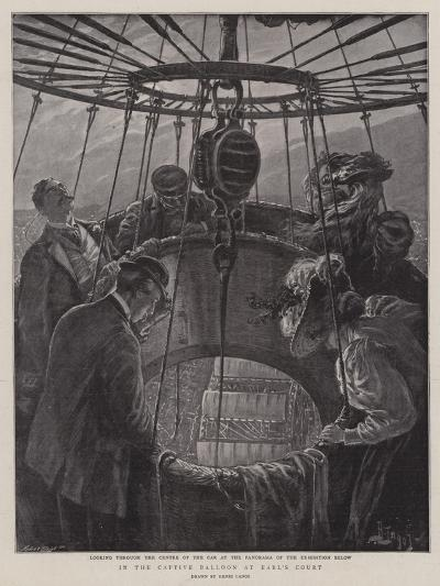 In the Captive Balloon at Earl's Court-Henri Lanos-Giclee Print
