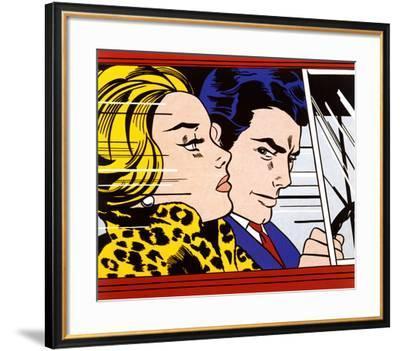 In the Car, c.1963-Roy Lichtenstein-Framed Art Print
