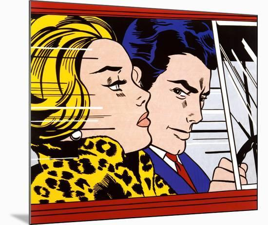 In the Car, c.1963-Roy Lichtenstein-Mounted Art Print