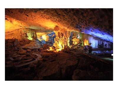 In the Cave of Awe Hang Sung Sot Grotto in Ha Long Bay, North Vietnam, Quang Ninh, Vietnam--Art Print