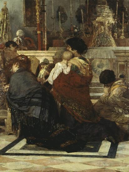 In the Church, 1881-Luigi Nono-Giclee Print
