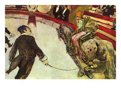 In The Circus-Henri de Toulouse-Lautrec-Art Print