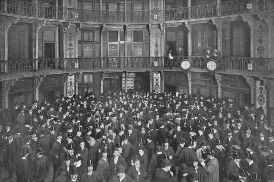 In the Coal Exchange, City of London, c1903 (1903)-Unknown-Photographic Print
