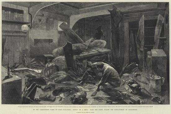 In the Commander's Cabin of HMS Alexandra-Charles Auguste Loye-Giclee Print