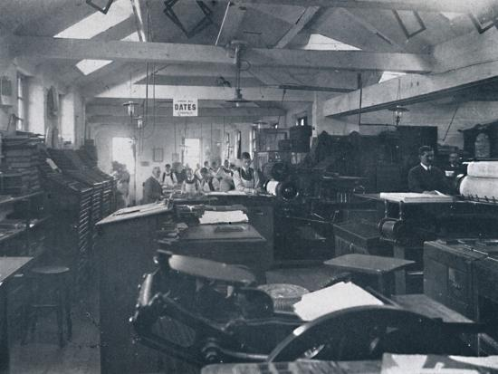 'In the Composing Room', 1916-Unknown-Photographic Print