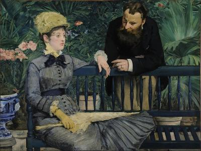 In the Conservatory, 1879-Edouard Manet-Giclee Print