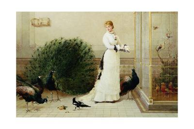 In the Conservatory Heywood Hardy--Giclee Print