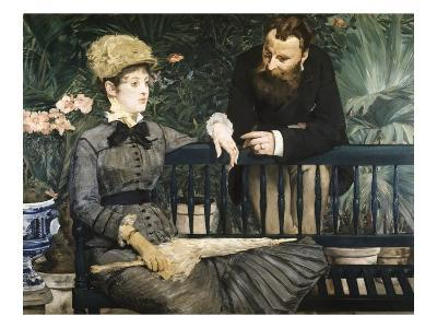 In the Conservatory-Edouard Manet-Giclee Print