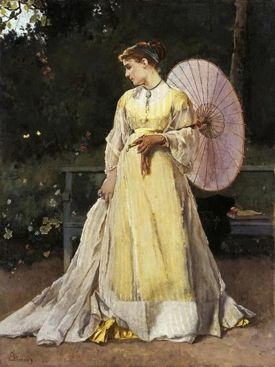In the Countryside (Lady with Umbrella)-Alfred Emile L?opold Stevens-Giclee Print