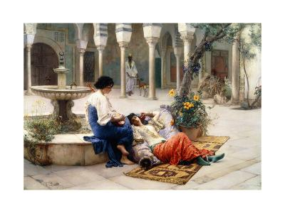 In the Courtyard of the Harem-Max Ferdinand Bredt-Giclee Print