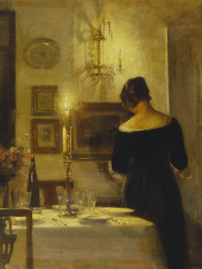 In the Dining Room-Carl Holsoe-Giclee Print