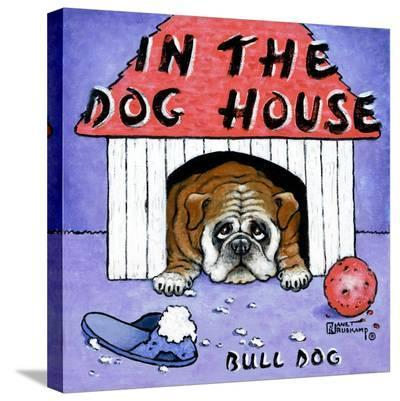 In the Dog House-Janet Kruskamp-Stretched Canvas Print