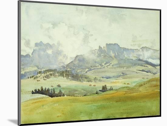 In the Dolomites-John Singer Sargent-Mounted Premium Giclee Print