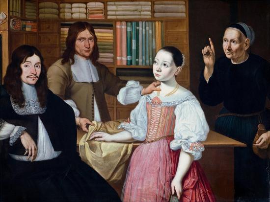 In the Draper´s Shop, 1670-Adriaen Bloem-Giclee Print