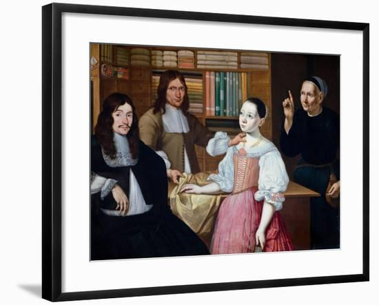 In the Draper´s Shop, 1670-Adriaen Bloem-Framed Giclee Print