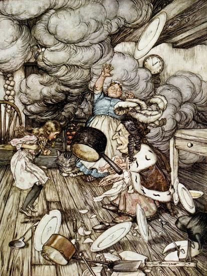 In the Duchess\'s Kitchen, Illustration to \'Alice\'s Adventures in  Wonderland\' by Lewis Carroll Giclee Print by Arthur Rackham | Art.com