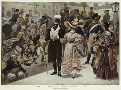 In the Early Days of Our Century, Piccadilly in 1800-Gordon Frederick Browne-Giclee Print