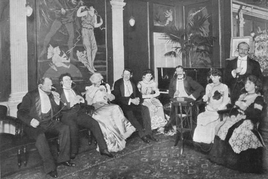 In the Electrophone Salon, Gerrard Street, London, c1903 (1903)-Unknown-Photographic Print