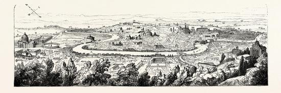 In the Forum Romanum the Pincian Hill, Rome, Italy--Giclee Print