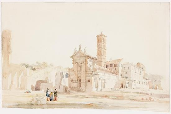 In the Forum, Rome-William Wood Deane-Giclee Print
