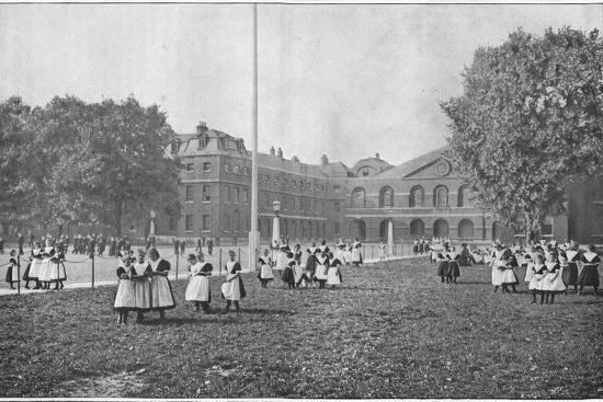 In the Foundling Hospital grounds, London, c1901 (1901)-Unknown-Photographic Print