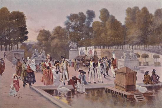 'In The Garden of the Tuileries', 1896-Unknown-Giclee Print