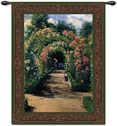 In the Garden-Peder Mork Monsted-Wall Tapestry