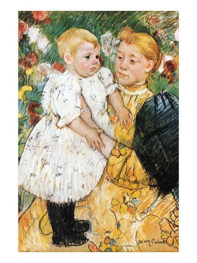In The Garden-Mary Cassatt-Art Print