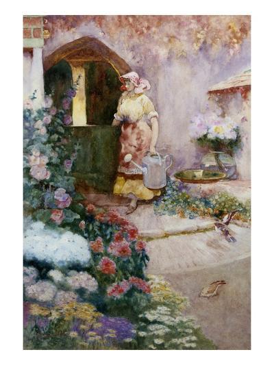 In the Garden-David Woodlock-Giclee Print