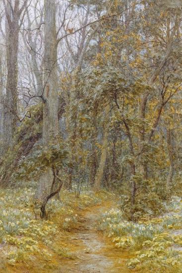 In the Garden-Helen Allingham-Giclee Print