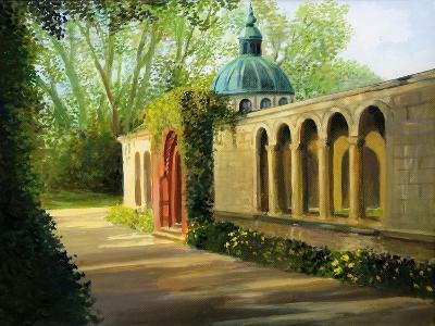 In The Gardens Of Sanssouci-kirilstanchev-Art Print