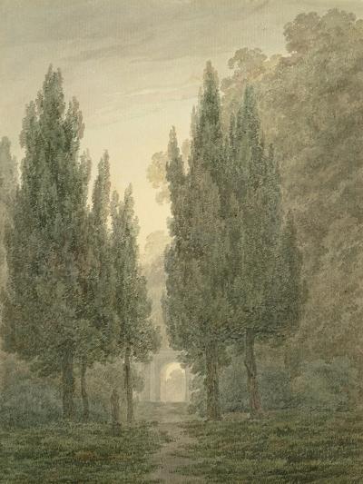 In the Gardens of the Villa Pamphili-John Robert Cozens-Giclee Print