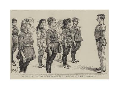 In the Girl's Gymnasium at the People's Palace, Mile End Road, Drill Instruction-Charles Paul Renouard-Giclee Print
