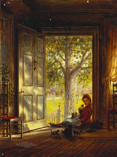 In the Glow, Sunset, 1872-Edward Lamson Henry-Giclee Print