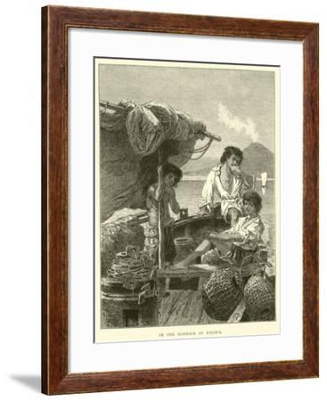 In the Harbour of Portici--Framed Giclee Print