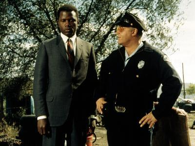 In The Heat Of The Night, Sidney Poitier, Rod Steiger, 1967--Photo