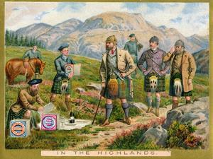 In the Highlands', a Promotional Card for Huntley and Palmers Biscuits, C.1890