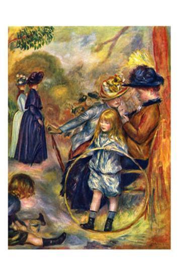 In the Jardin du Luxembourg, c.1883-Pierre-Auguste Renoir-Art Print