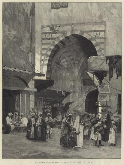 In the Khan El-Khalily at Cairo, Egyptian Traders from the Red Sea-Charles Auguste Loye-Giclee Print