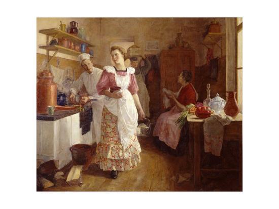 In the Kitchen, 1913-Olga Vasilyevna Ivanova-Bronevskaya-Giclee Print