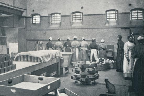 In the kitchen of Holloway Prison, London, c1901 (1901)-Unknown-Photographic Print