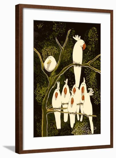 In the Land of the Cockatoo-Thomas MacGregor-Framed Giclee Print