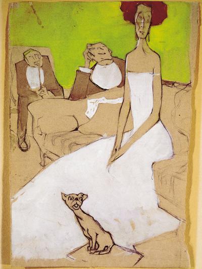 In the Living Room (In Salotto)-Ugo Valeri-Giclee Print