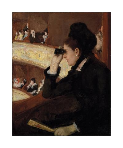 In the Loge, 1878-Mary Stevenson Cassatt-Premium Giclee Print