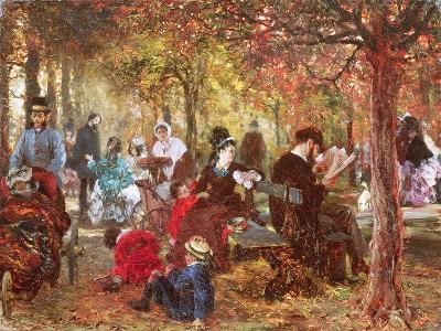 In the Luxembourg Gardens-Adolph von Menzel-Giclee Print